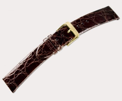 Crocodile classic 2615 Ladies – d'brown 14-12 Clasp of gold-plated stainless steel