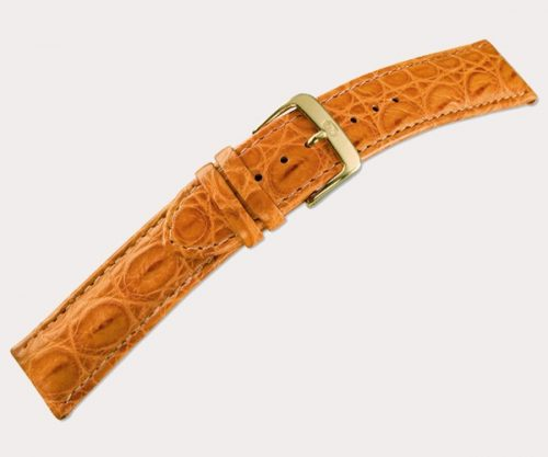 Croco Bentley 3035 Mens – d'brown 22-20 Clasp of gold-plated stainless steel